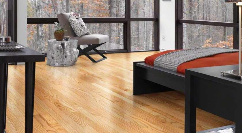Oak hardwood flooring in a living room in college park beltsville adelphi silver spring maryland
