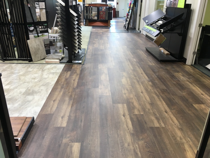 CoreTec Plus XL vinyl plank waterproof flooring in our Maryland DC showroom